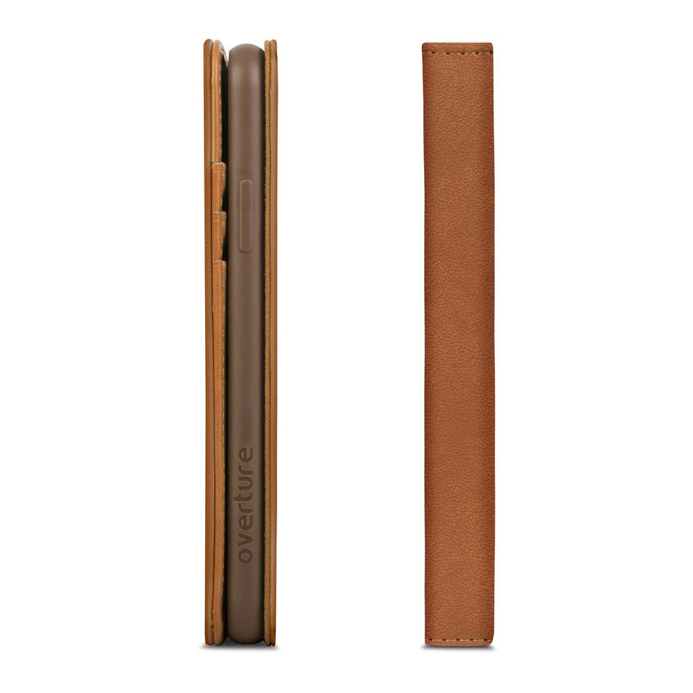 [Moshi] iPhone X 오버추어 지갑케이스-카멜 브라운