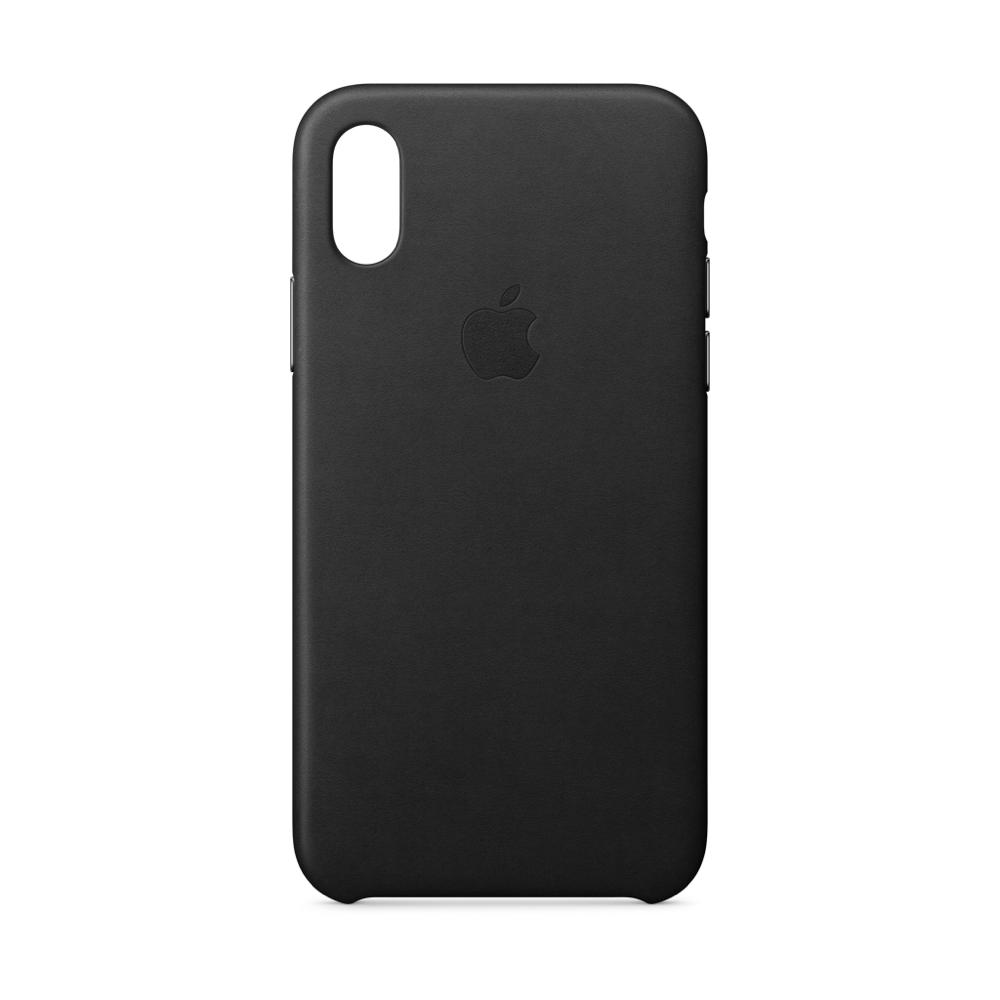iPhone X Leather Case Black MQTD2FE/A